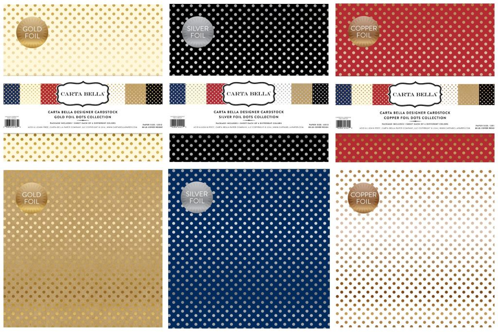 Carta Bella Foil Dot collection