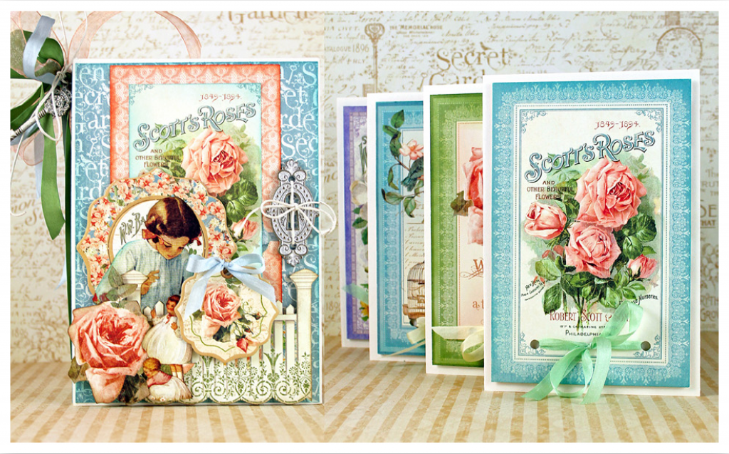 G45 Secret Garden Book Box and Pop Up Cards 1