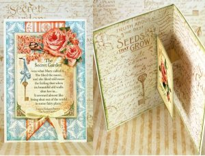 G45 Secret Garden Pop Up Card