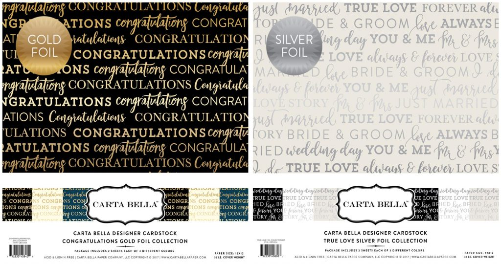 CB Foil Congratulations & True Love kits
