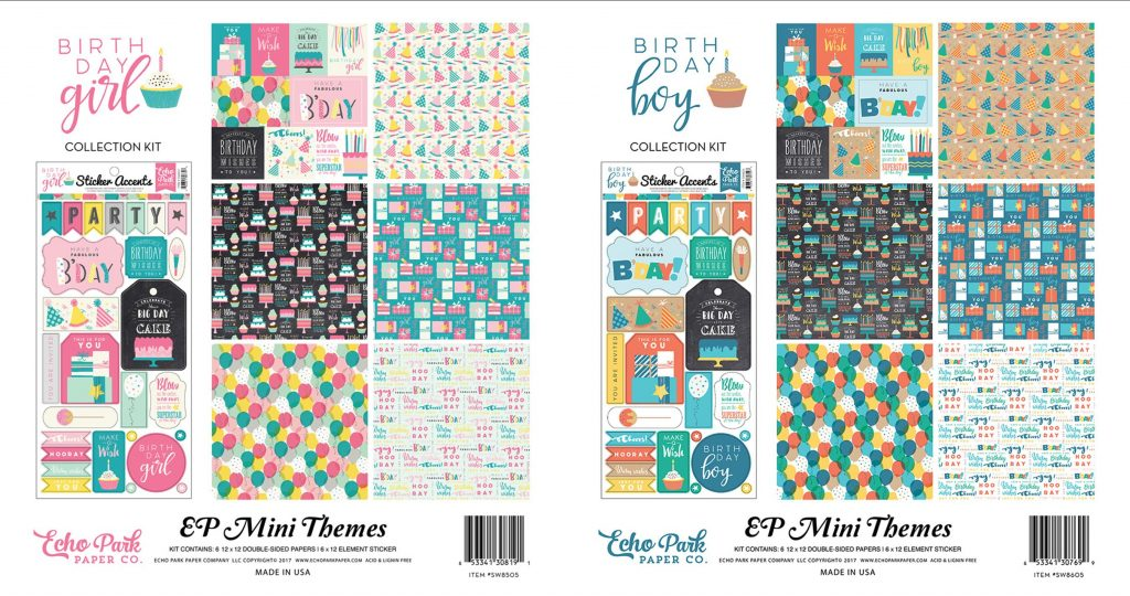 EP Birthday Girl & Boy kits