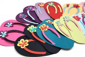 Flip Flop Day paper flip flops 2