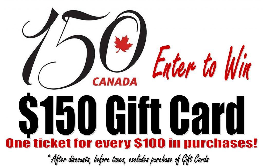 Win Gift Card Canada 150