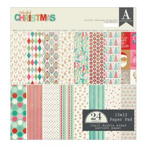 AU Colorful Christmas paper pad