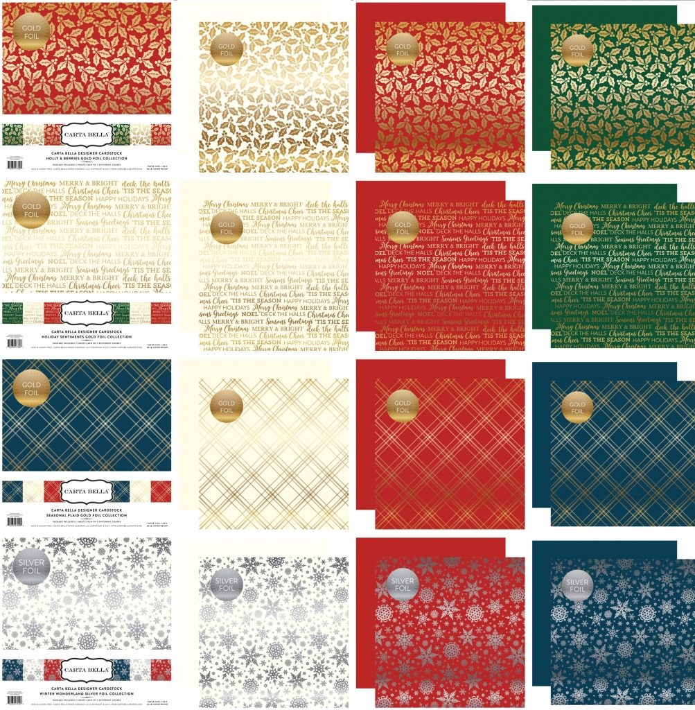CB Foil Papers Christmas & Winter