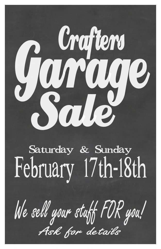 Garage Sale poster Feb 11x17