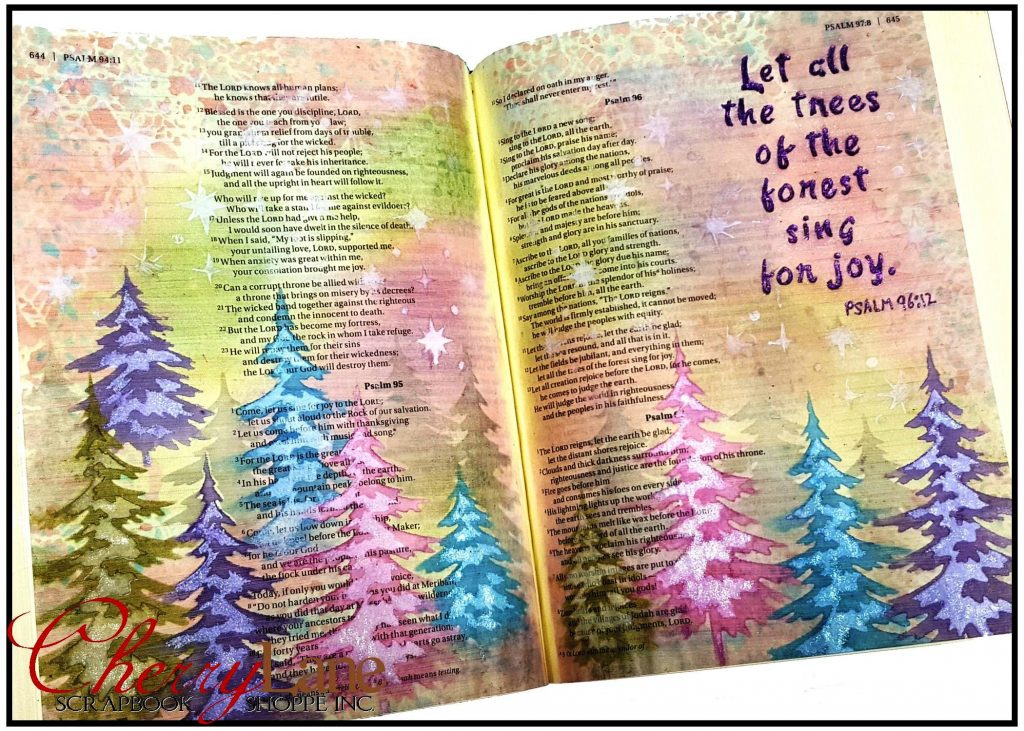 2018-01 February PT 6 Mixed Media Bible Art Journaling sneak peek