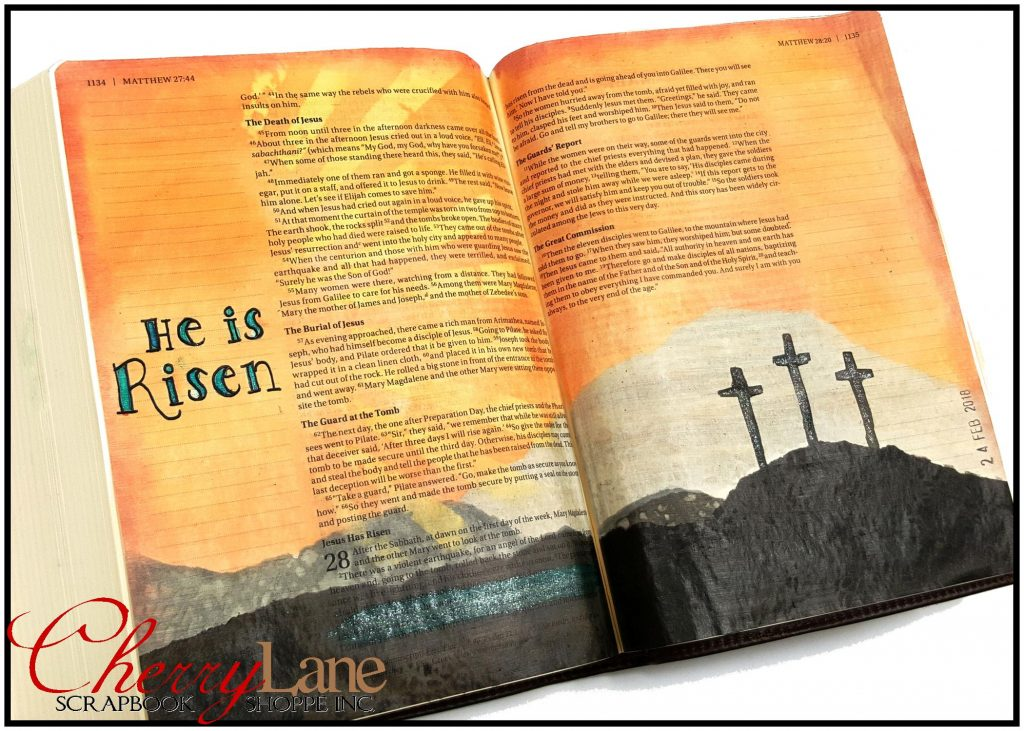 2018-01 March PT 7 Mixed Media Bible Art Journaling sneak peek