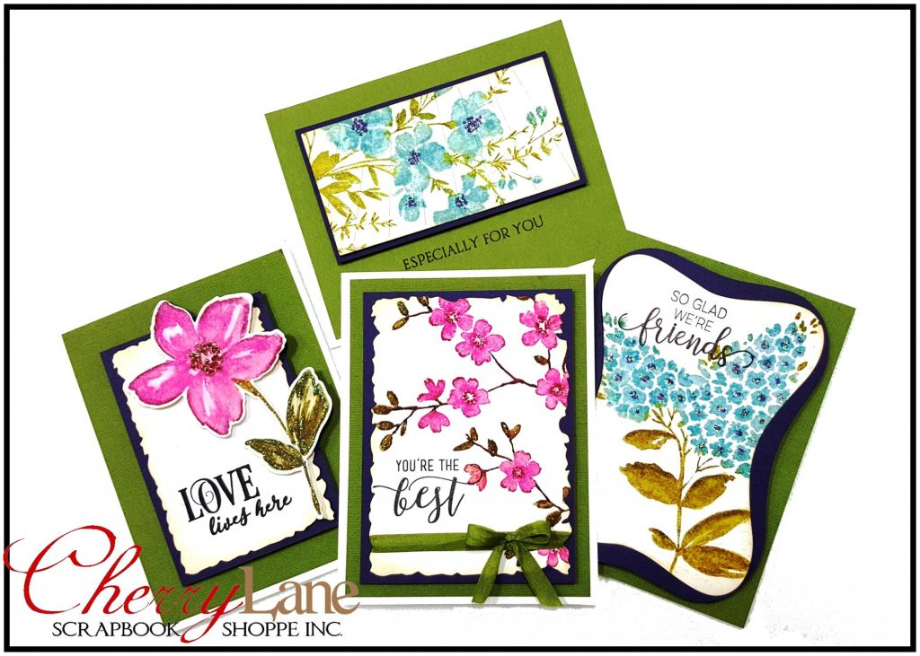 Penny Black Blissful Blossoms Cards stamps