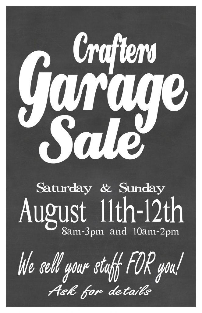 Garage Sale poster Aug 11x17