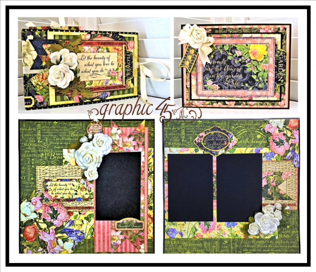 G45 Floral Shoppe Layout, Mini Album, Gift Card Holder