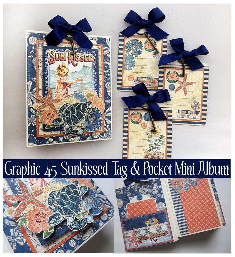 Graphic 45 Sunkissed Tag Pocket Mini Album