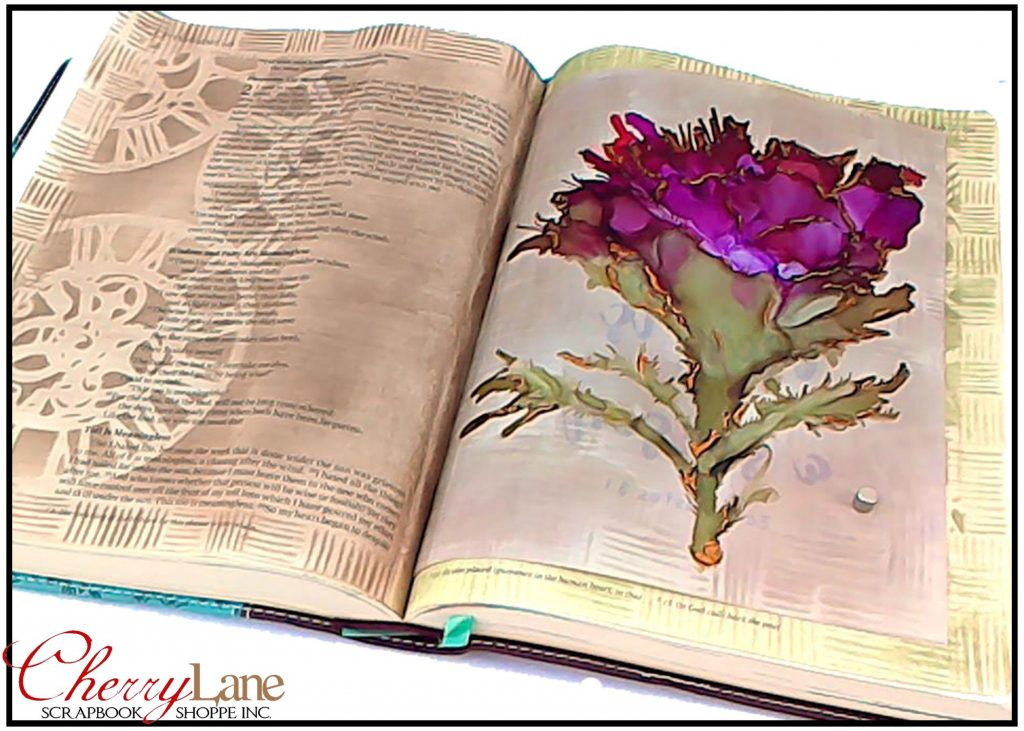 2018-10 October PT 13 Mixed Media Bible Art Journaling sneak peek ONE