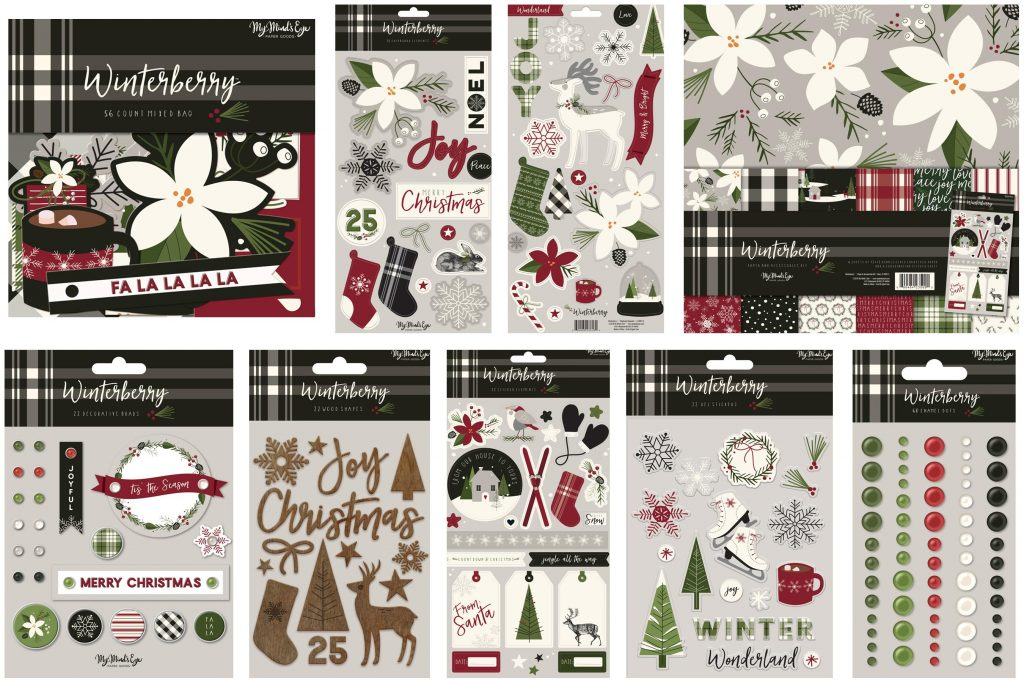 MME Winter Berry collage embellishments