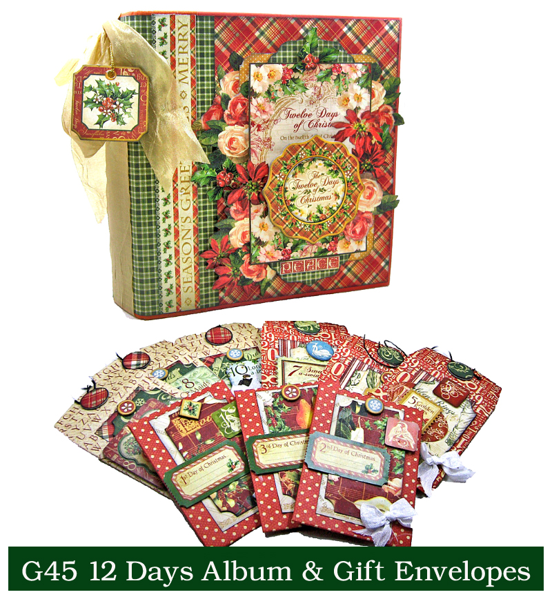 G45 12 Days of Christmas Album Gift Envelopes 1
