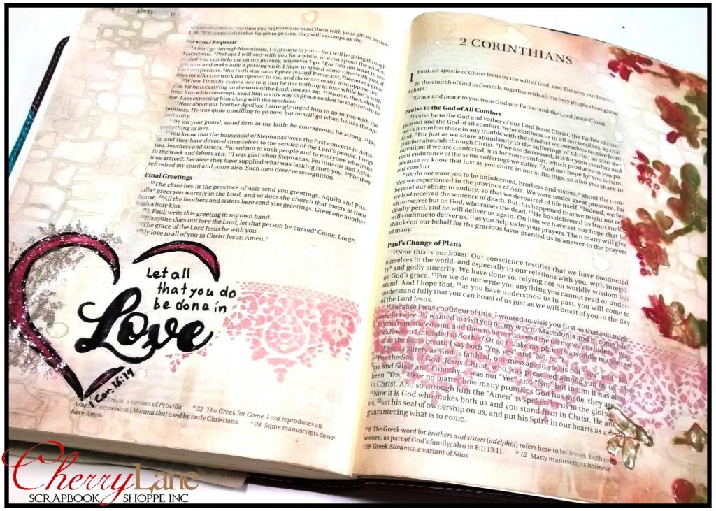 2019-02 February PT 16 Mixed Media Bible Art Journaling sneak peek