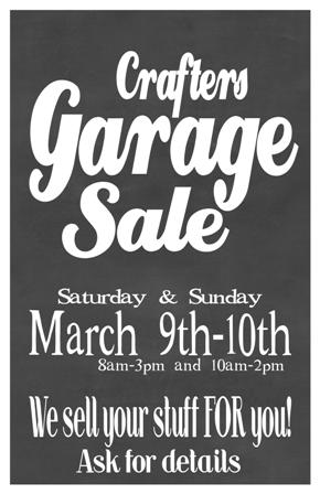 Garage Sale poster March 11x17 SM