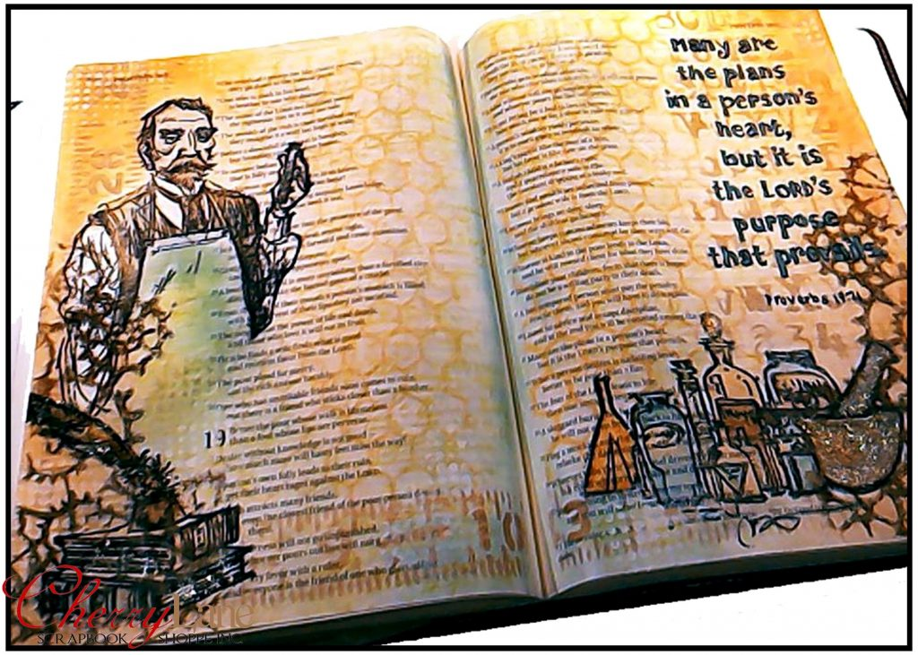 2019-03 March PT 17 Mixed Media Bible Art Journaling sneak peek