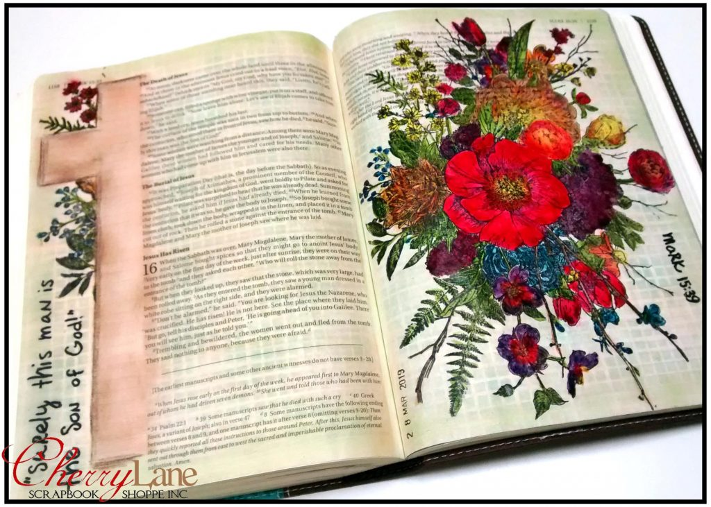 2019-04 April PT 18 Mixed Media Bible Art Journaling sneak peek