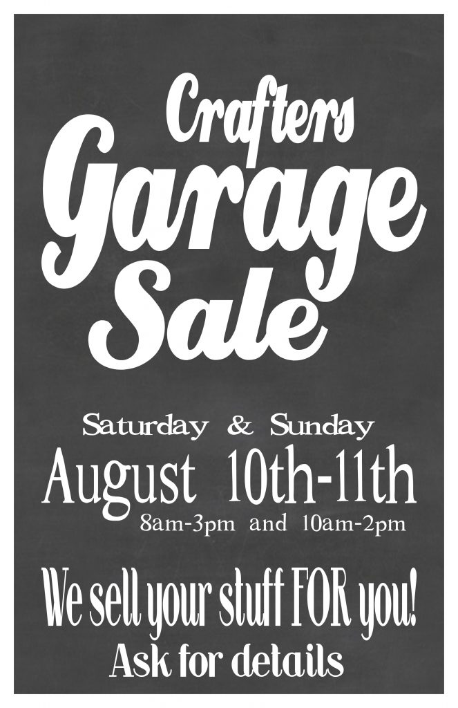 Garage Sale poster Aug 2019 11x17