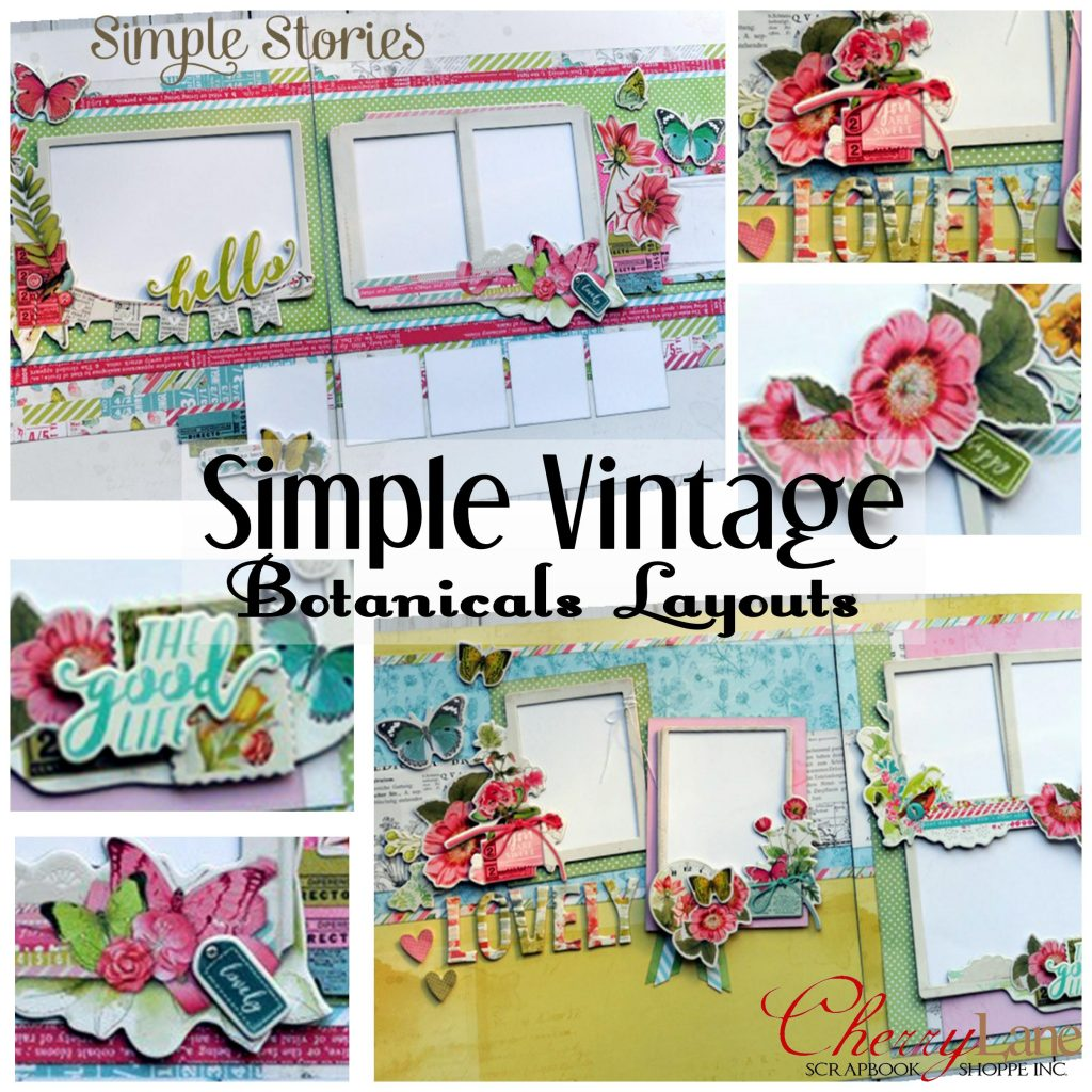 SSI Simple Vintage Botanicals Layouts square