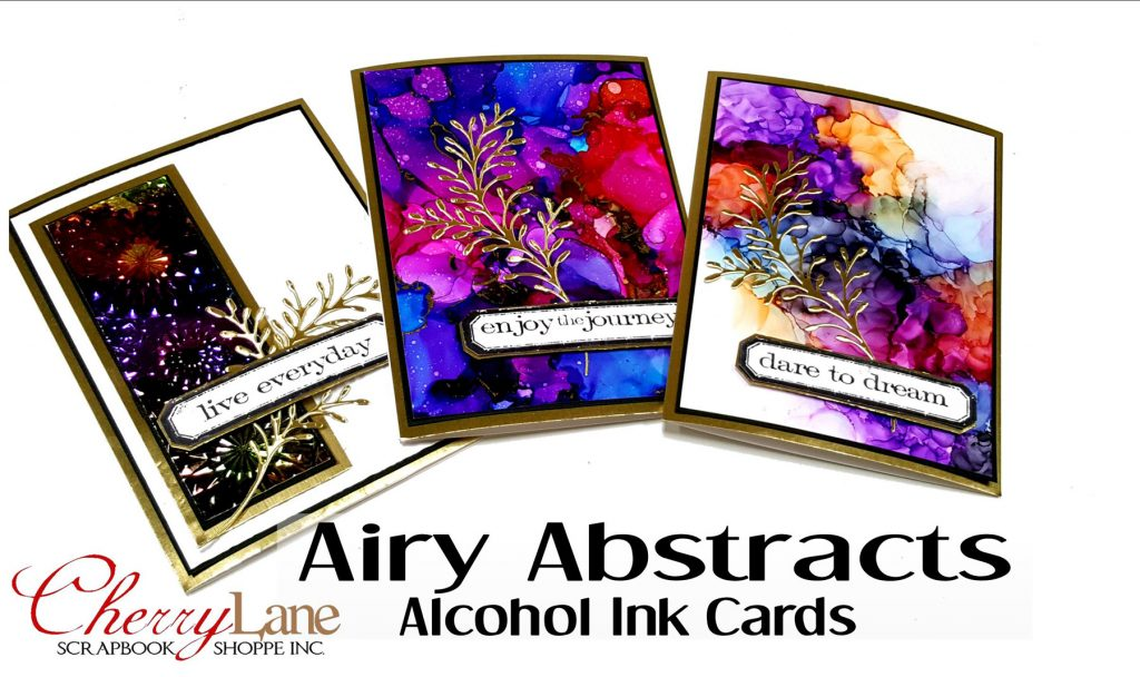 Airy Abstracts Alcohol Ink Cards
