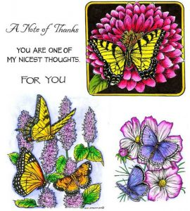 no-095-yellow-swallowtail-zinnia-lavender-hyssop-with-butterflies