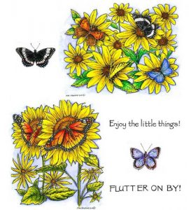 no-096-brown-eyed-susan-with-butterflies-sunflower-monarchs