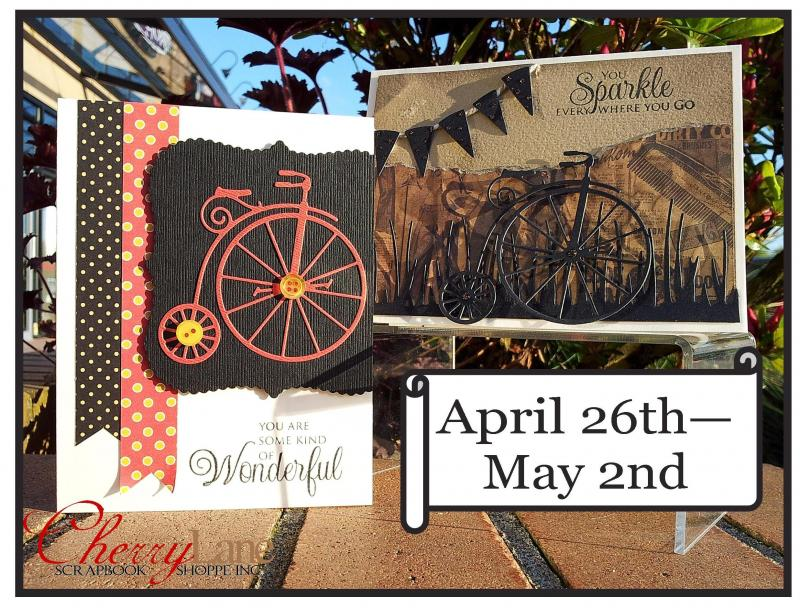 Memory Box dies: Vintage Bicycle, Rooster, Grassland Border