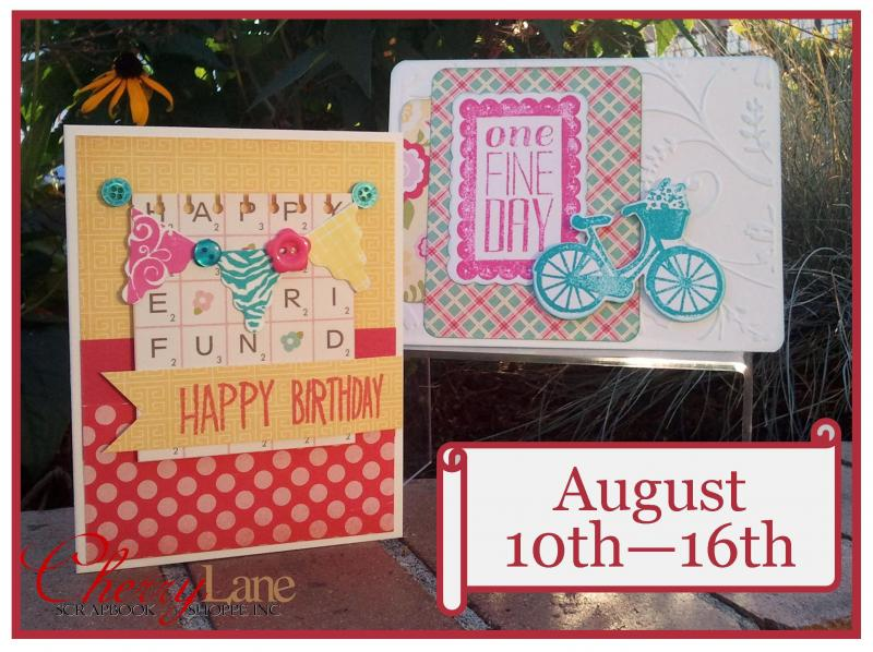Sizzix Stamp & Die Sets: Sweet Day, Banners. Echo Park Sweet Girl paper