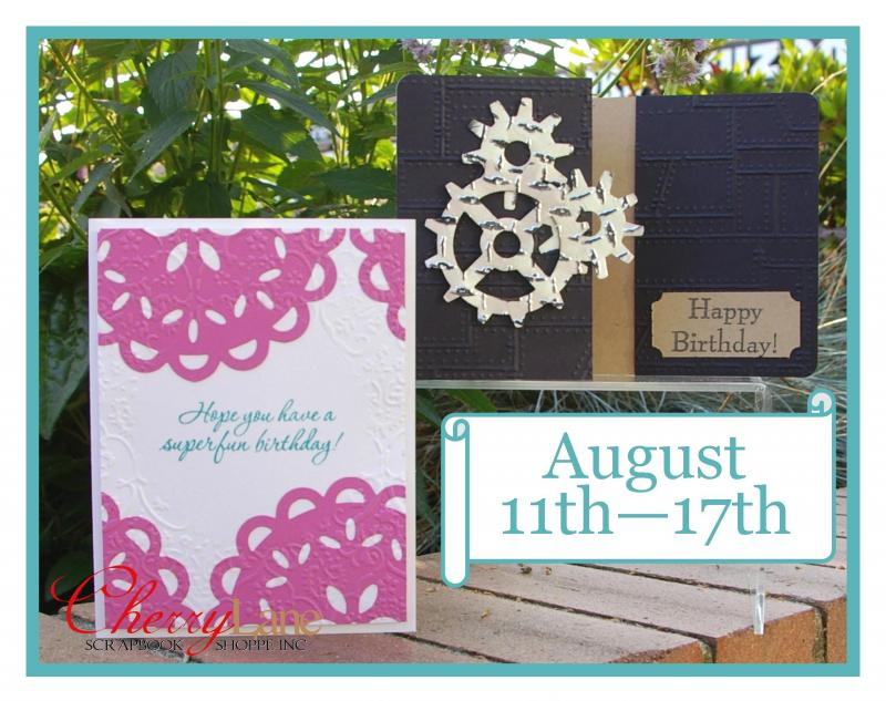 August 11-17 (Tim Holtz embossing folder & diffuser, Sizzix Medallion Die)