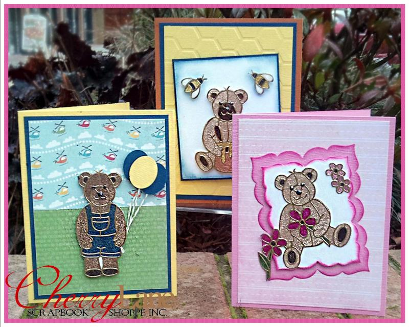 Cute Bears Glitter & Peel Off's