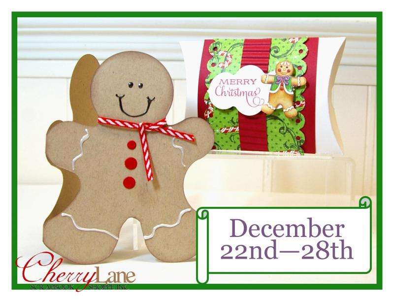Sizzix Dies: Pillow Box and Gingerbread Man #2, Graphic 45 Nutcracker Sweet