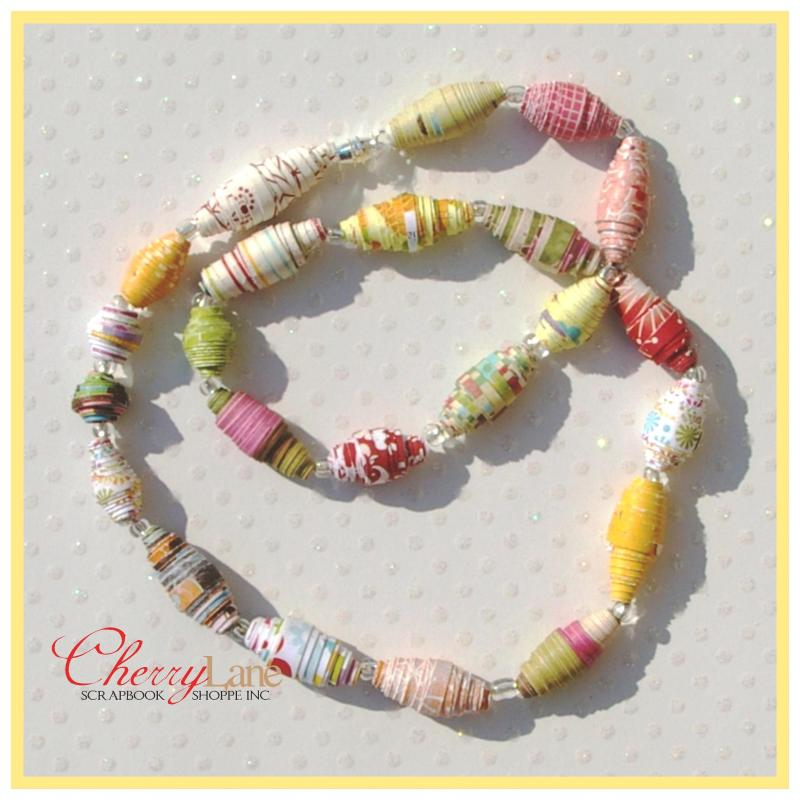 Kids Class - August 26th Paper Bead Necklace, Kids Crafts, Tombow
