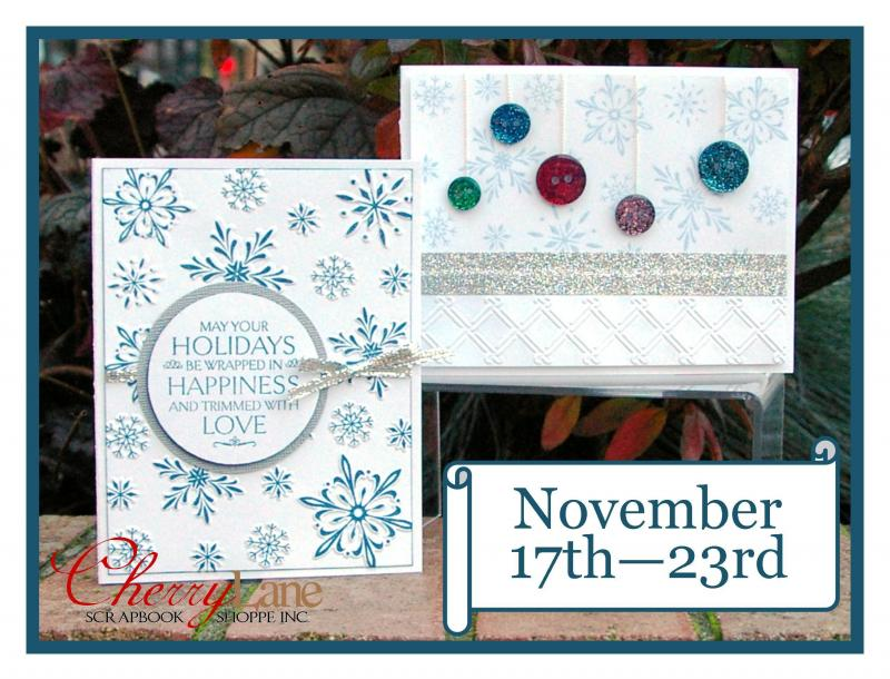 Sizzix Hero Arts Snowflake Background Set, Flourishes Stamp, Tsukineko Memento
