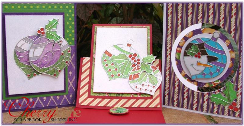 Stained Glass Ornament Cards