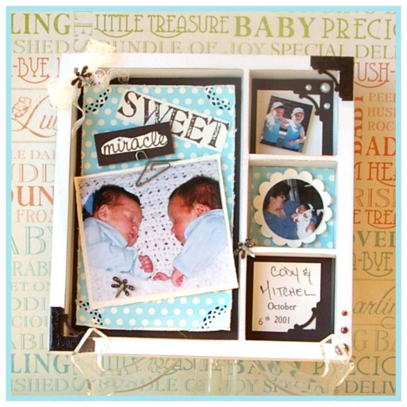 Sweet Baby Shadowbox Tray