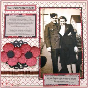 November Layout Winner - We Will Remember by Amber Sharp
